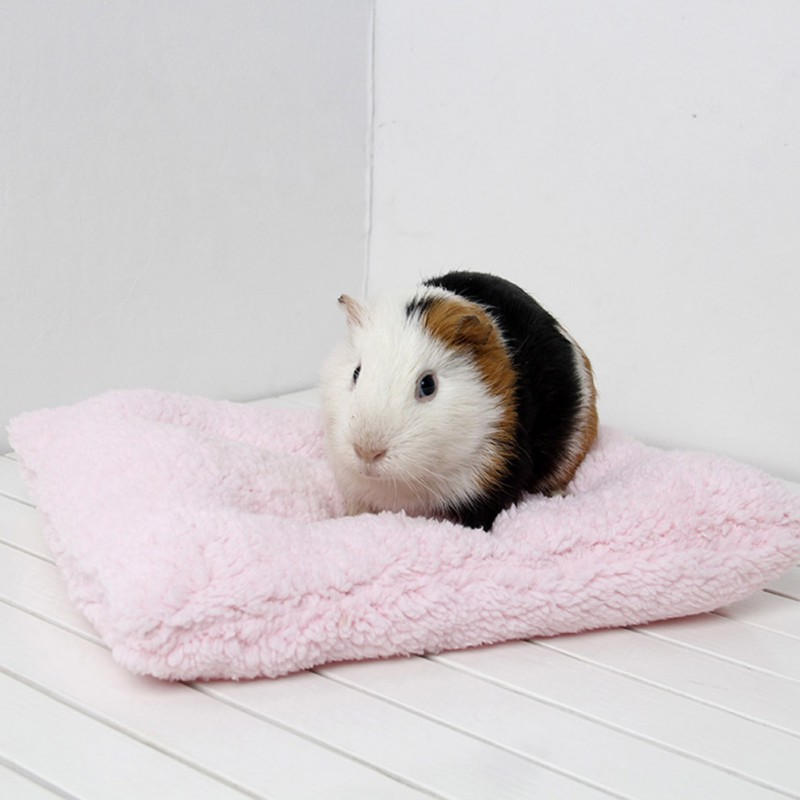 Soft Fleece Mat For Hamster Guinea Pig Rabbit Bed Rats Small Winter Pets Hamster Cage House Small Animal Pet Warm Sleeping Mat