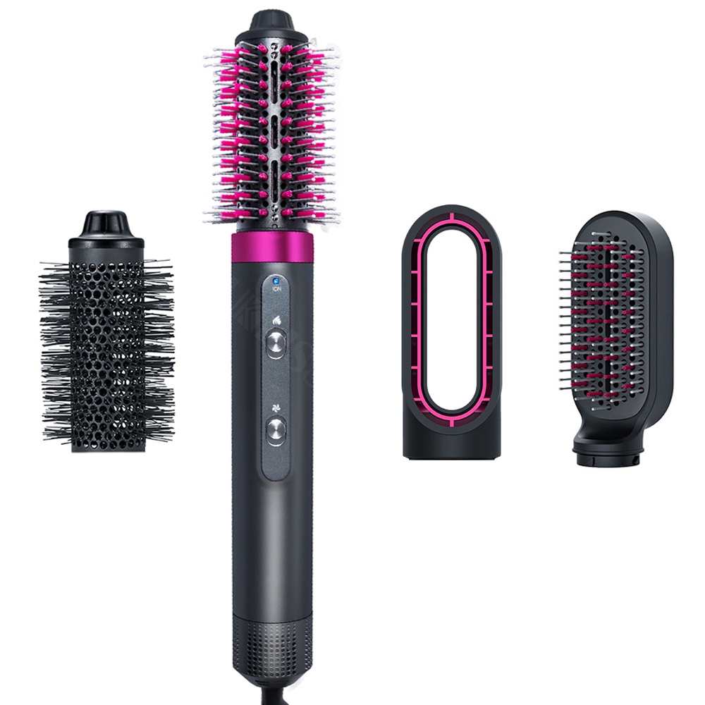 Hair Blower Brush One Step Hair Dryer and Volumizer Blow Dryer 4 In 1 Hot Air Styler Comb Hair Curler Hairdryer Brush for Hair
