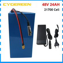 48 V 24AH 2000W akumulator litowo-jonowy 48 V 30AH Ebike 1000W 48 V 12AH 16AH rower elektryczny 21700 Batteria z 54 6V 2A ładowarka tanie i dobre opinie CYGEREEN CN (pochodzenie) 10-20ah Lithium Battery 48V 24AH Lithium battery 3 7V 4000mah 21700 3C Powerful cell more than 800 cycles