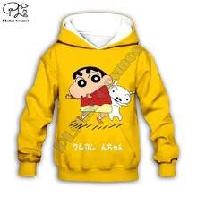 Детские Японские Аниме crayon shinchan 3d толстовки/Для девочек