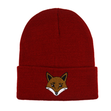 Winfox New Animal Embroidery  Knitted Cap Beanie Hat Winter Warm Hats For Women men Gorra Hip hop Skull Bonnet Fox Pattern Caps soft decorative pillows pillow case square home decor velvet cushion cover for living room bedroom sofa living room decoration