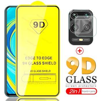 Перейти на Алиэкспресс и купить Стекло для камеры redmi note 9 s, 2 в 1, 9d, с полным клеем, Защитное стекло для xiaomi redmi note 9, 9a, 9c, redme note 9 pro max