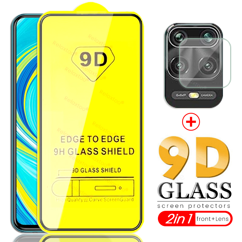 Redmi Note 9 S Glass 2in1 9d Full Glue Camera Protective Glass For Xiaomi Redmi Note 9s Glass Safty Redme Notes 9 Pro Max стекло
