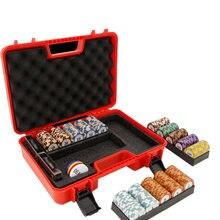 300 adet Poker cips kılıf yüksek kaliteli PP Casino tekel cips saklama kutusu çip konteyner taşınabilir Mambling ev belirteçleri bavul