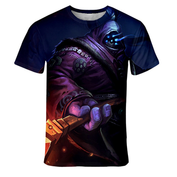 2020 New League of Legends Fashion 3D Printed T-shirt Men Round neck Hip-Hop Comfortable Casual Short-Sleeved Men/Women 1