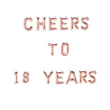 High Quality 16Inch cheers to 30 40 50 60 70th Happy Birthday Rose Gold letter Number Foil Balloon Birthday Party Decor Supplies(China)