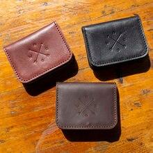 Новый кошелек ручной работы из натуральной кожи для визиток