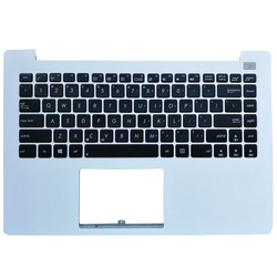 Новый для ASUS X402 X402C X402CA F402 F420C Ноутбук Упор для рук верхний чехол с клавиатурой белого и черного цвета