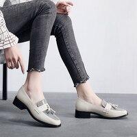 Women Winter Oxfords Women Wingtip Genuine Leather Calfskin Flats slip on Round Toe Lady Brogue Shoes Handmade shoes Steinmeier
