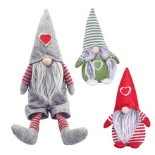 Santa Claus Snowman Elk Christmas Ornaments Faceless Doll Swedish Gnome Plush Doll Favor Party Decoration for Home New Year Gift(China)