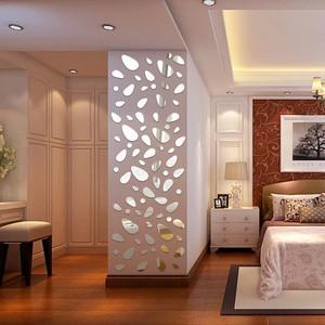 12Pc Living Bedroom Room 3D Mirror Wall Sticker Vinyl Removable Wall Paper Sticker Decal Home Decor Art DIY Decoration Drop Ship
