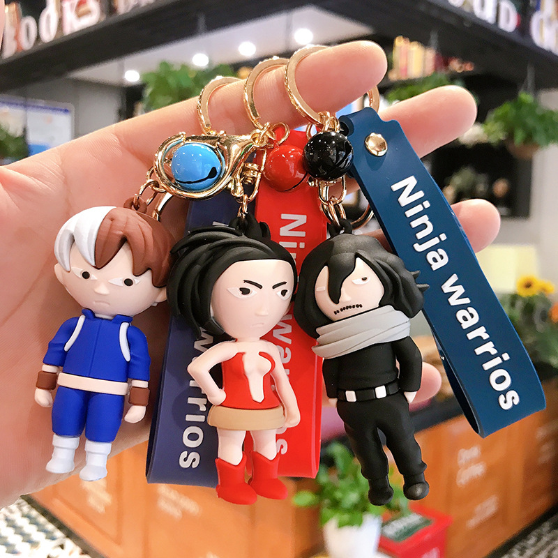 Fashion My Hero College Keychain Cute Double-sided Anime Keychains Car Bag Around Pendant Keyring Cartoon Accessories Gift