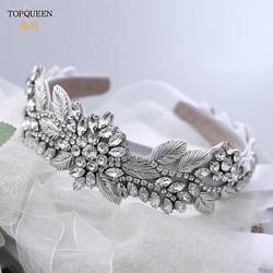 TOPQUEEN S373-FG luksusowe opaski królewskie dla kobiet luksusowy kryształ i koraliki Hairband europejski i amerykański barokowy pałąk