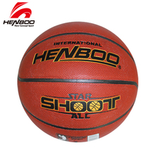 HENBOO basketball ball PU leather + butyl liner Outdoor Indoor sport Match Training Inflatable Official size 7# 853 high quality