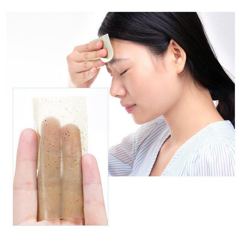 100 штук Очищение лица масло промокающая бумажная маска Макияж Уход за кожей продукты для мужчин и женщин масло промокающие листы