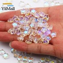 100pcs 8 millimetri Trasparente Piccolo Star Perline AB Repubblica Perle di Vetro Per Monili Che Fanno Braccialetto Fatto A Mano Artigianale Fai Da Te Accessori