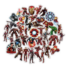 50pcs Marvel Iron Man Travel Case stickers Laptops Macbook Skateboards Luggag Fridge car skateboard notebook waterproof stickers(China)