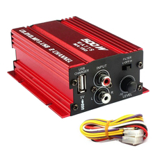 500W 2 Channel Hi-Fi Car Subwoofer Amplifier Stereo Audio Eq