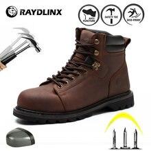 Raydlinx Сталь носок промышленные строительные кожаные ботинки
