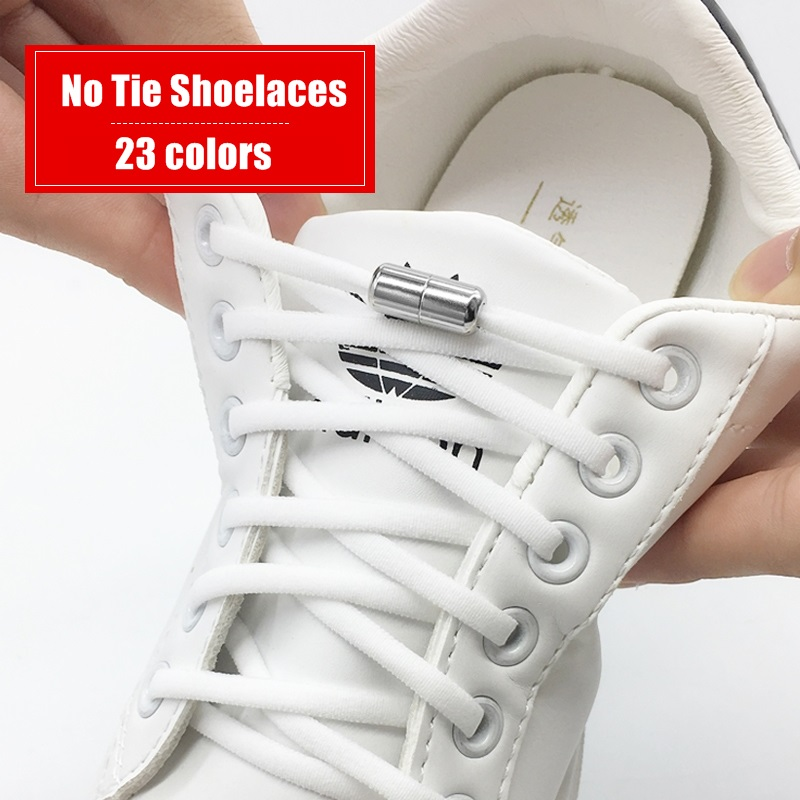 Эластичные шнурки без завязок; Полукруг шнурки для детей и взрослых Спортивная обувь на шнурках; Быстрая ленивый металлических замочно-Бот...
