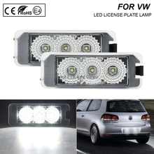 цена на A Pair LED Number License Plate Lights Number Plate Holder Lamp No Error For VW Golf 4 Golf 5 Golf 6 Golf 7 Eos 06-09