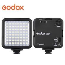 Godox 64 led luz de vídeo para câmera dslr filmadora mini dvr como luz de preenchimento para entrevista de notícias de casamento macrofotografia