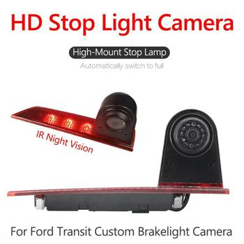 Third 3rd Brake Light Rear View Camera IR Night Vision for Ford Transit Custom Ultra Low Light High Image Quality Shockproof