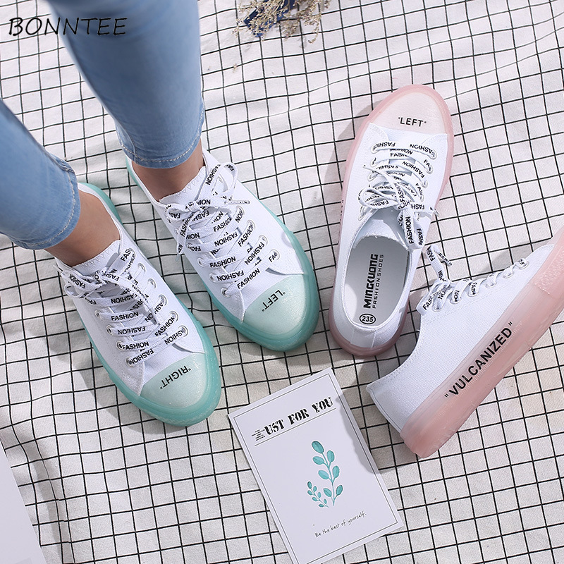 Vulcanize Shoes Women All-match Canvas Flat Simple Trendy Chic Footwear Womens 2020 New Korean Students Walking Outdoor Daily