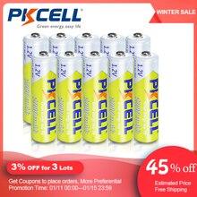 10 adet PKCELL 1.2v NI MH AAA pil 3A 1000MAH AAA şarj edilebilir pil aaa nimh pil piller rechargea el feneri oyuncaklar