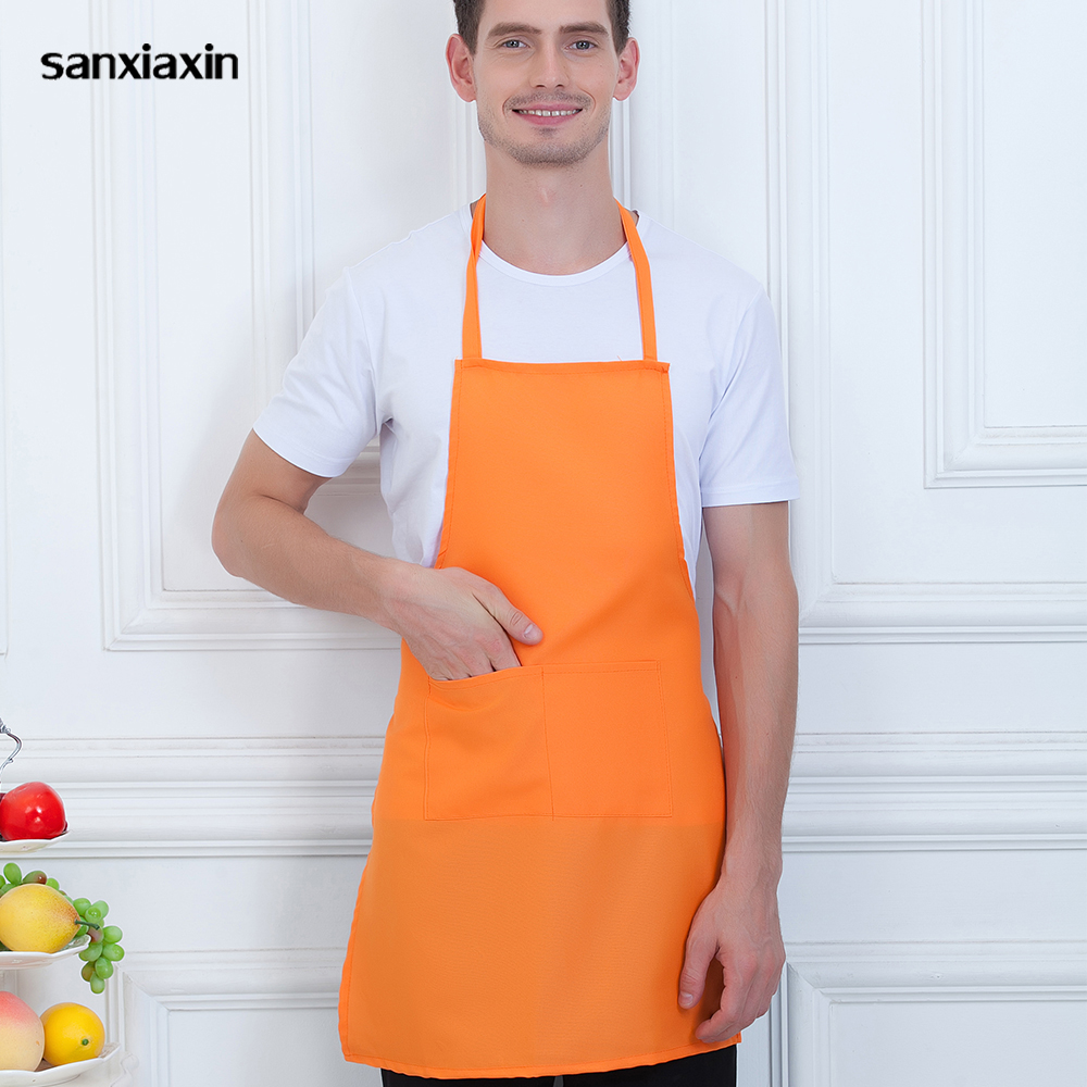 New Household Apron Wholesale Hotel Waiter Anti-dust Chef Apron Breakfast Bread Housewife Cleaner Adjustable Diet Head Chef