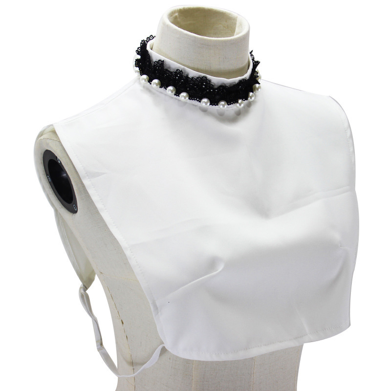 Basics Rendering Lace Dickie High Lead Decoration Pearl Stand Fake Collar New Free Shipping Necklace Shirt Women
