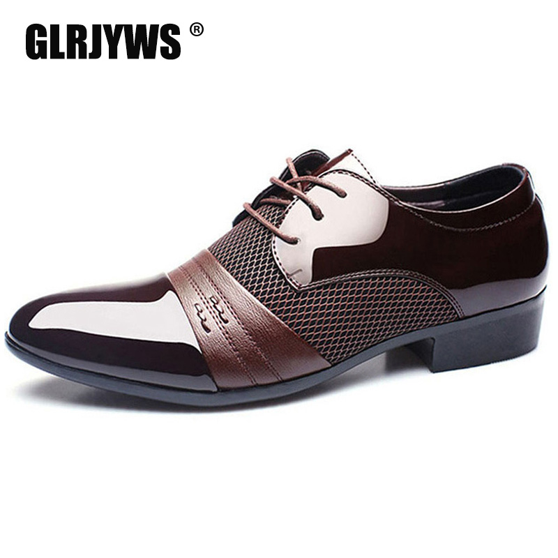 Men Flat Shoes Breathable Wedding Dress Business Male Pointed Toe