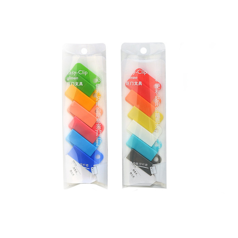 6 Pack Mixed Colors - Mixed Edition Random Candy Color Sealing Clips File Sorting Clips - 1 Pack