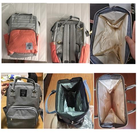 Fashion USB Mummy Maternity Diaper Bag Large Nursing Travel Backpack Designer Stroller Baby Bag Baby Care Nappy a Bag Lahore