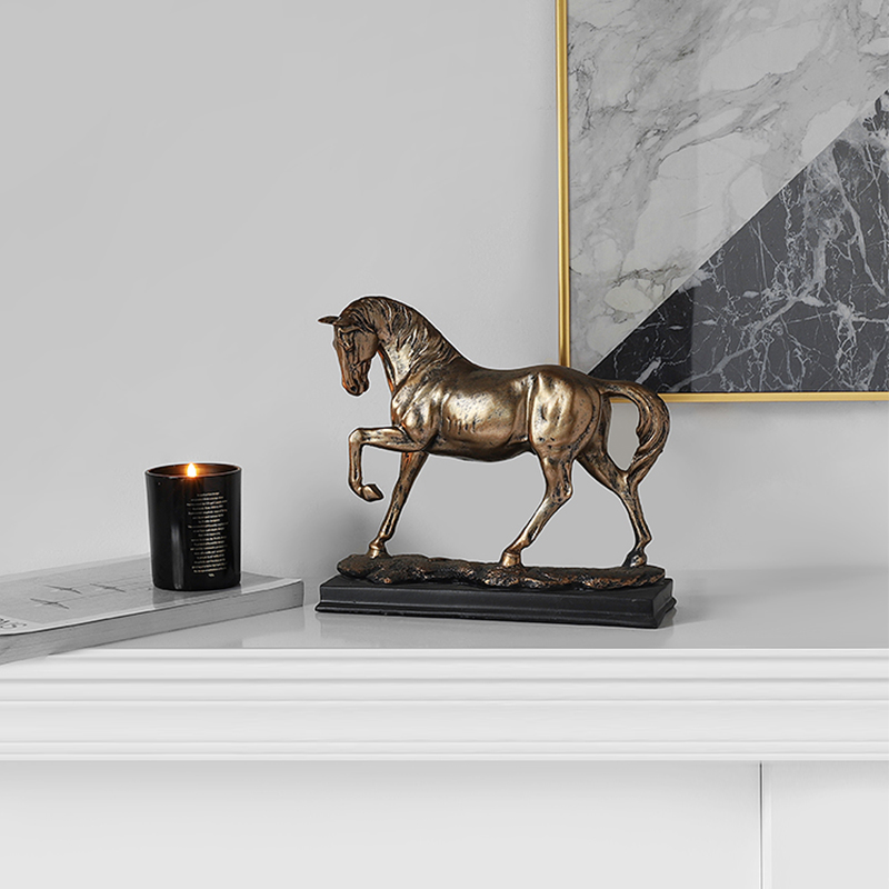 Horse Sculpture Creative Home Sculpture Resin Crafts Decoration Cabinet Furnishings Souvenir Decor Statue For Home Just6F