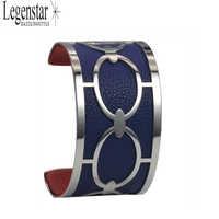 Legenstar Bracelet & Bracelet Argent Femme Georgette Manchette Bracelet inox réversible Interchangeable Pulseiras