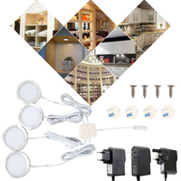 Ultra thin LED Cabinet Light Set Led Room Light Wine Cabinet Light Round Mounted Showcase Downlight