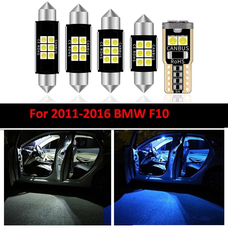Juego de luces LED para Interior de BMW, set de 16 unidades de iluminación para Interior de BMW F10 528i 528i 535i 535i xdrive 550i 550i M5