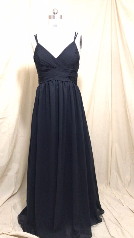 Sexy A-Line Long Spaghetti Straps Lace Bridesmaid Dresses with Pockets Chiffon V-Neck Custom Lace Up Formal Wedding Party Dress