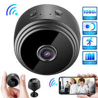 Mini cámara DV grabadora con imán HD 1080P, inalámbrica, WiFi, detección de movimiento, visión nocturna, red niñera, aplicación V380 Pro