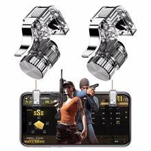 1 pair PUBG Mobile Trigger Joystick Per Il Telefono Gamepad Metallo Giochi L1R1 Shooter Pubg Controller per Coltelli Out Sopravvivenza Regole