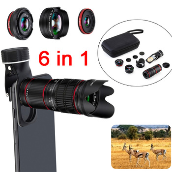 6in1 4K HD 36X Optical Telescope Zoom Phone Camera Lens Telephoto Lens For iPhone Huawei Xiaomi Lenses lente para celular NEW
