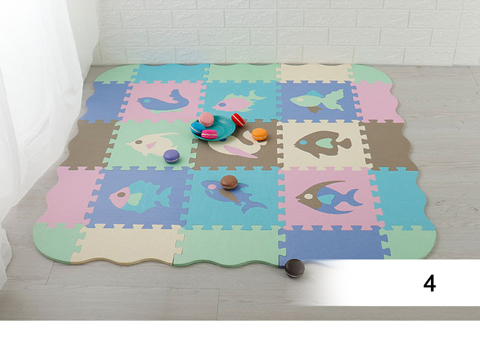 Hb82c97d6e3964d9e976c6215a2020f12U 25Pcs Kids Toys EVA Children's mat Foam Carpets Soft Floor Mat Puzzle Baby Play Mat Floor Developing Crawling Rugs With Fence