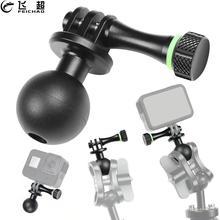 Aluminum Alloy Ballhead Tripod Adapter Mount Thumb Screw for GoPro Hero 8 Black 7 6 5 Camera Fill Light 1 inch Round Ball Clip