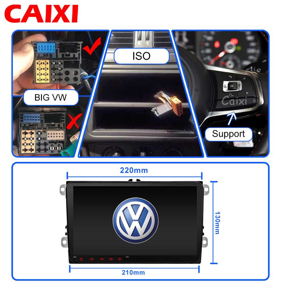 CAIXI 9 ''カーラジオ GPS ナビゲーション Android8.1 multime プレーヤー vw フォルクスワーゲンシュコダ GOLF5 Golf6 ポロパサート B5 B6 JETTA ティグアン