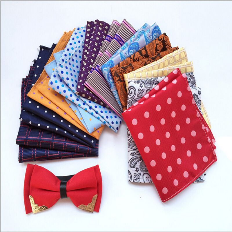 New 25*25CM Men's Vintage Floral Paisley Silk Handkerchief Pocket Square Wedding Men Accessories