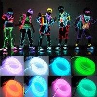 Cable de luces LED de neón, para decoración de Navidad, bailes, fiestas, disfraces, bricolaje, luces de autos, fiestas eléctronicas, de 1 m/3 m/5 m