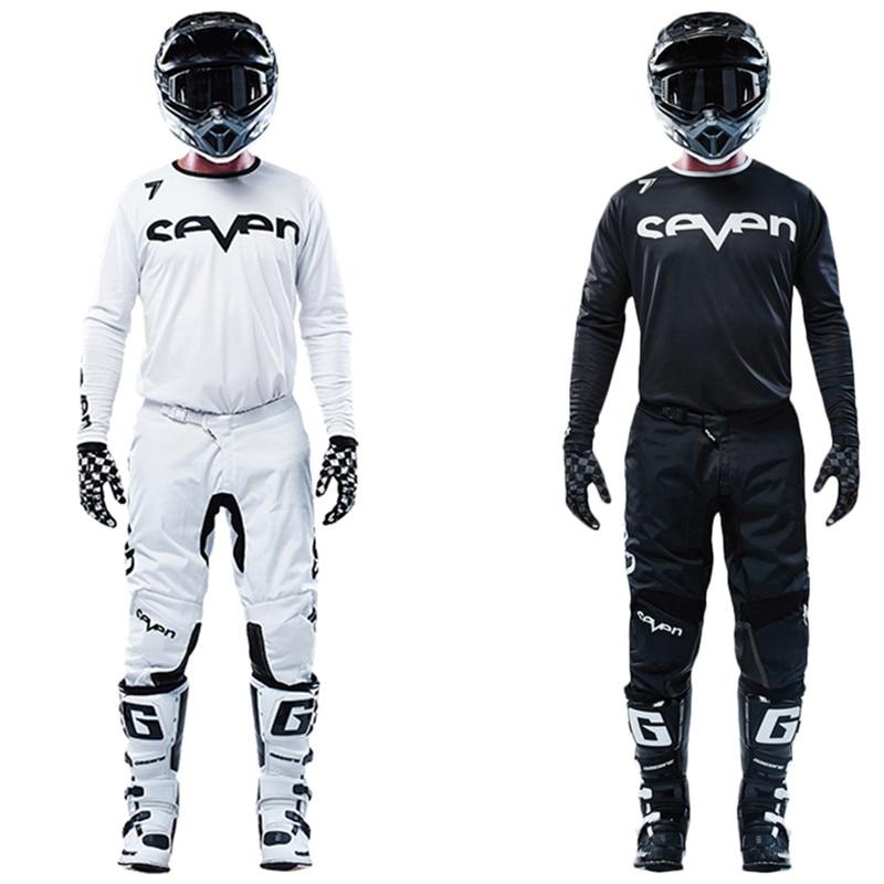New Black Seven MX Annex Mx Gear Set Top Motocross Kit Motorcycle Jersey And Pant ATV Jersey Set