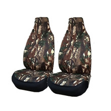 Jacht Camouflage Front Car Seat Cover Protector Polyester Rugleuning Kussen Pad Mat Rugleuning Voor Auto Interieur Truck Suv Van