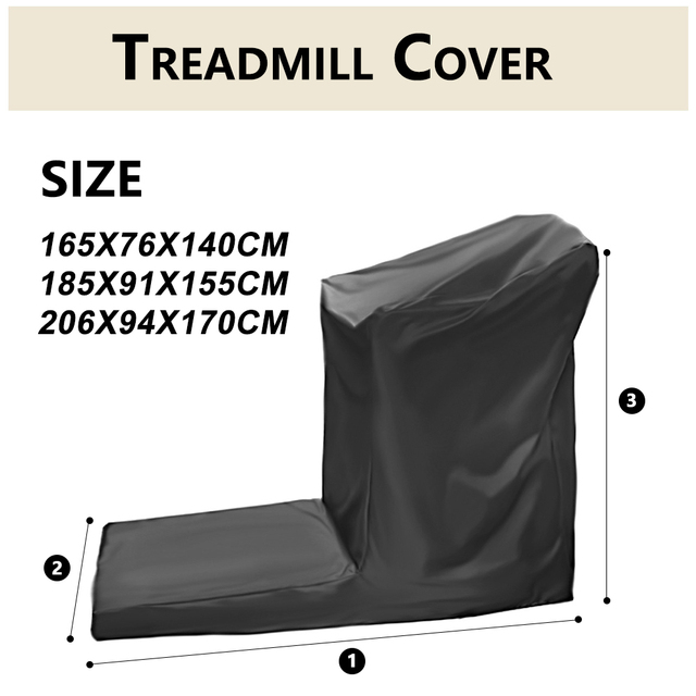 S//L Waterproof Treadmill Cover Running Jogging Machine Dustproof